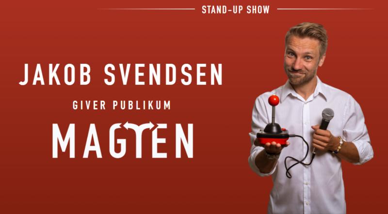 """Komiker Jakob Svendsen """"Giver Publikum Magten"""" d. 20/3-2020 på Værftet."""