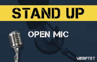 Standup Open Mic på Værftet.biz
