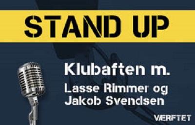 Standup på Værftet d.8-2-2019 med Lasse Rimmer og Jakob Svendsen