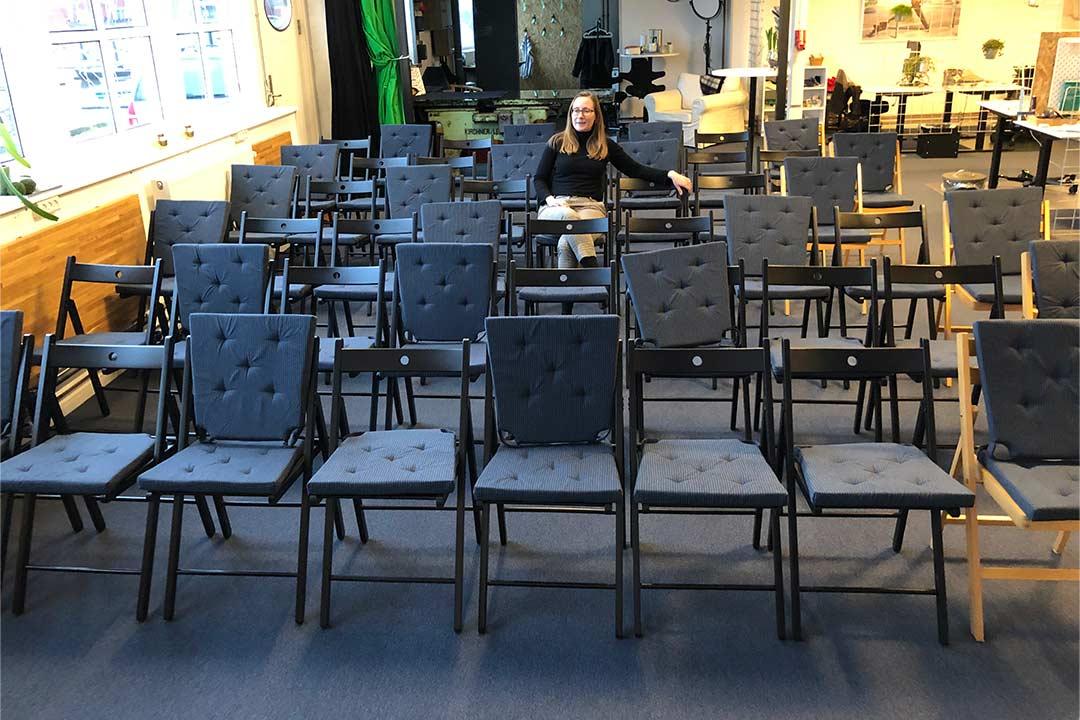 Salen på Værftet i Køge har plads til 50 siddende gæster.