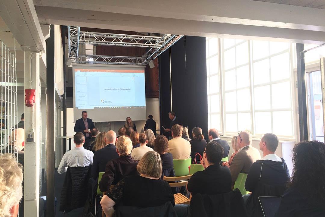 Møde i Salen på Værftet i Køge - temaet var SEO for Detailhandelen.